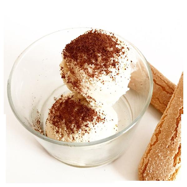 Receta de helado de tiramisu