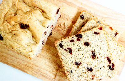 Pan de arándanos y avena en panificadora de Lidl